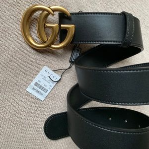 *New Gucci Belt Aüthentic Double G Marmot GG Gold